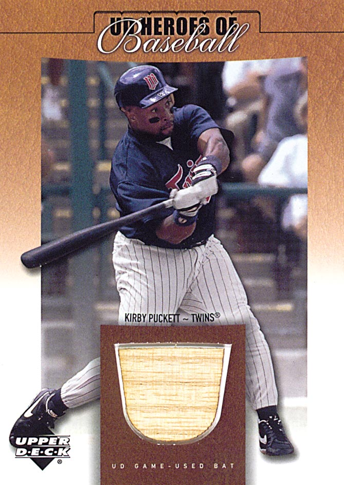 2001 Upper Deck Prospect Premieres Heroes of Baseball Game Bat #BKP Kirby Puckett