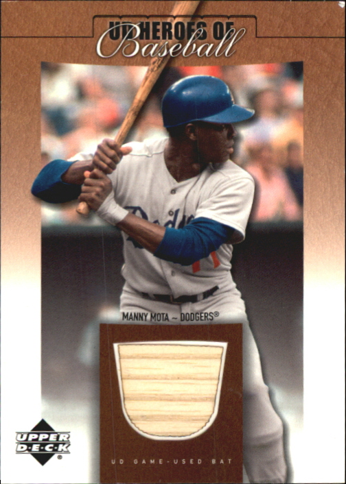 2001 Upper Deck Prospect Premieres Heroes of Baseball Game Bat #BMM Manny Mota