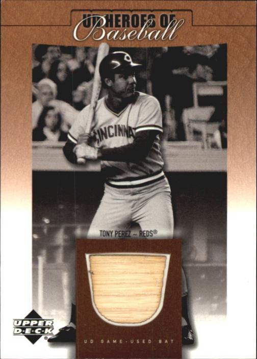 2001 Upper Deck Prospect Premieres Heroes of Baseball Game Bat #BTP Tony Perez