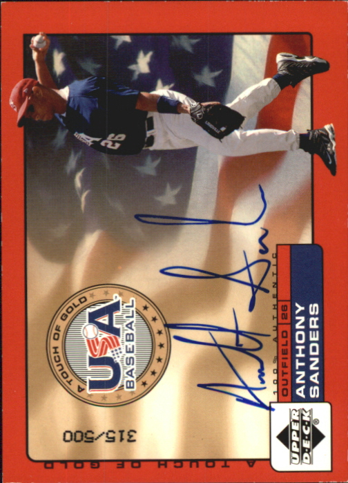 2001 Upper Deck Rookie Update USA Touch of Gold Autographs #AS Anthony Sanders