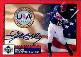 2001 Upper Deck Rookie Update USA Touch of Gold Autographs #DM Doug Mientkiewicz