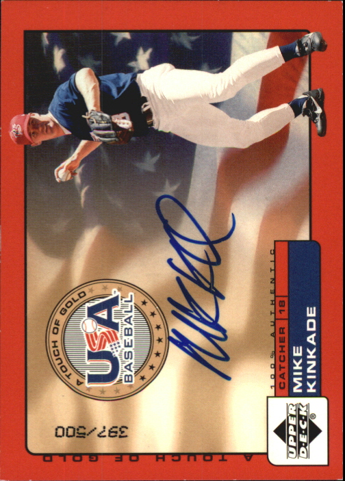 2001 Upper Deck Rookie Update USA Touch of Gold Autographs #MK Mike Kinkade