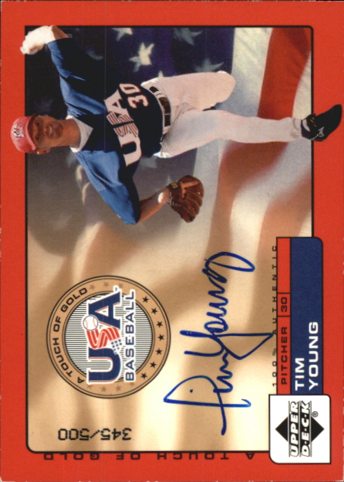 2001 Upper Deck Rookie Update USA Touch of Gold Autographs #TY Tim Young