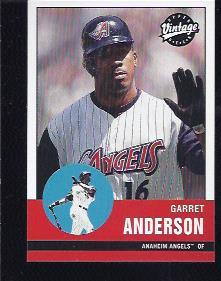 2001 Upper Deck Vintage #9 Garret Anderson