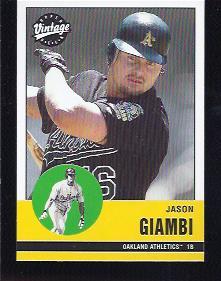 2001 Upper Deck Vintage #12 Jason Giambi