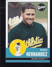 2001 Upper Deck Vintage #18 Ramon Hernandez