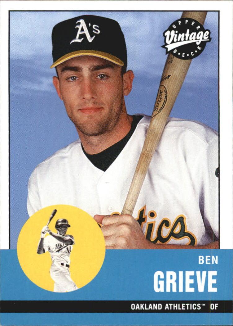 2001 Upper Deck Vintage #22 Ben Grieve