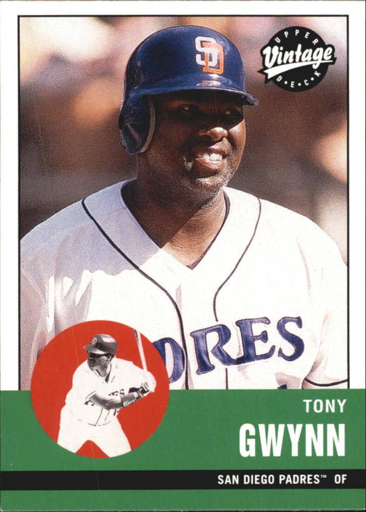 2001 Upper Deck Vintage #287 Tony Gwynn