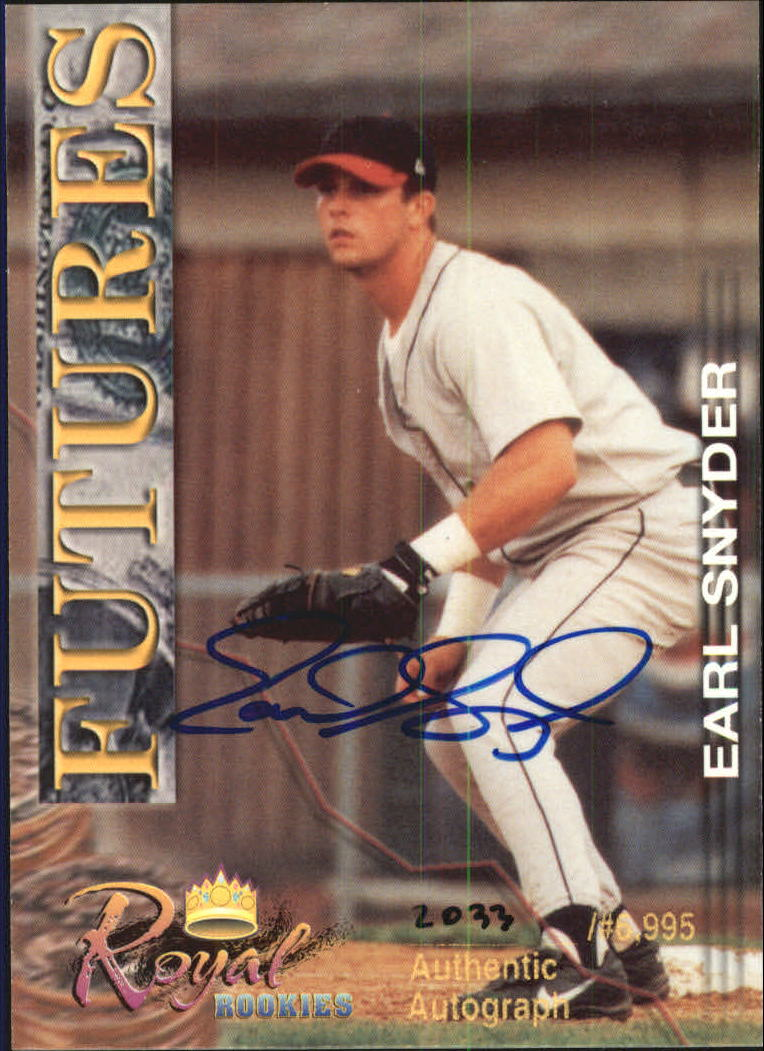 2001 Royal Rookies Futures Autographs #29 Earl Snyder