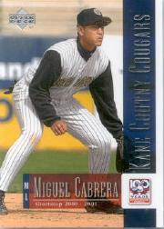 2001 Upper Deck Minors Centennial #77 Miguel Cabrera