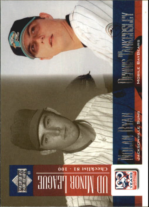 2001 Upper Deck Minors Centennial #100 N.Ryan/D.Tankersley UER