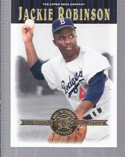 2001 Upper Deck Hall of Famers #16 Jackie Robinson