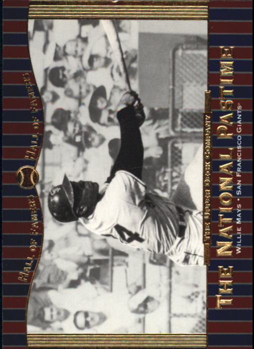 2001 Upper Deck Hall of Famers #73 Willie Mays NP