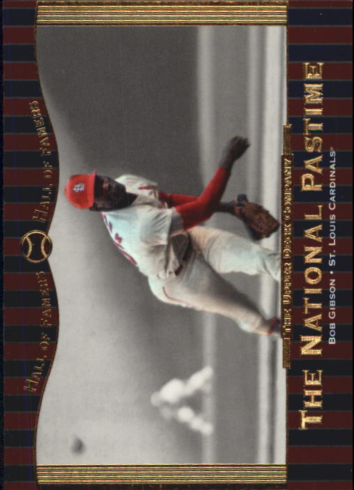 2001 Upper Deck Hall of Famers #75 Bob Gibson NP