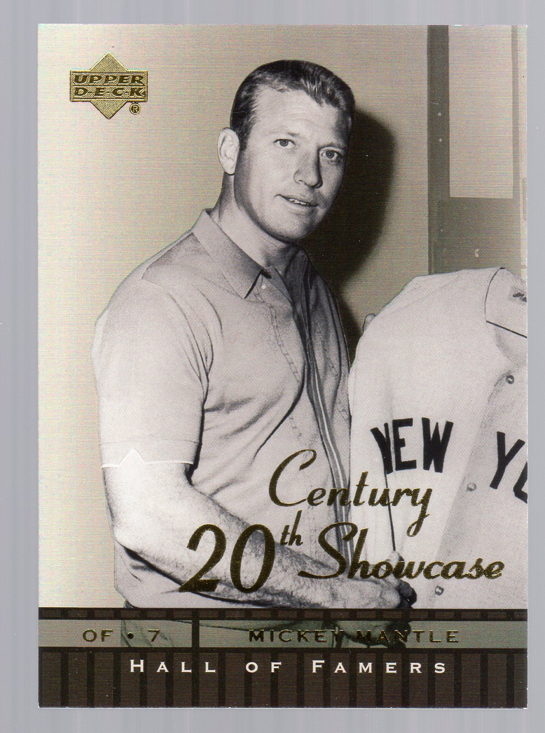 2001 Upper Deck Hall of Famers 20th Century Showcase #S5 Mickey Mantle
