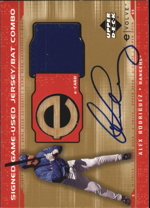 2001 Upper Deck Evolution e-Card Game Bat-Jersey Autograph #JBAR Alex Rodriguez