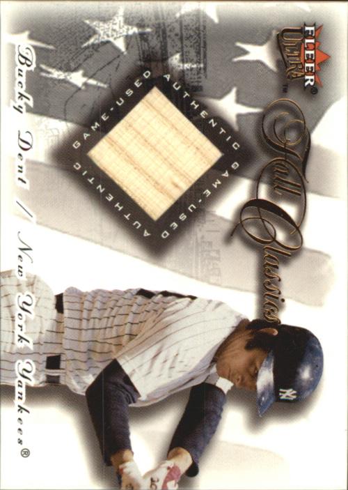 2001 Ultra Fall Classics Memorabilia #6 Bucky Dent Bat
