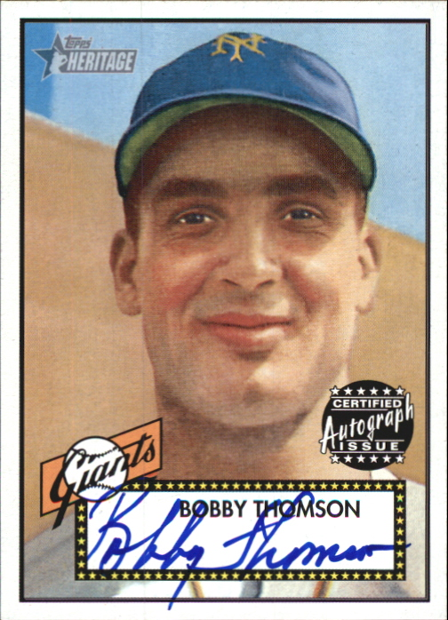 2001 Topps Heritage Autographs #THABT Bobby Thomson