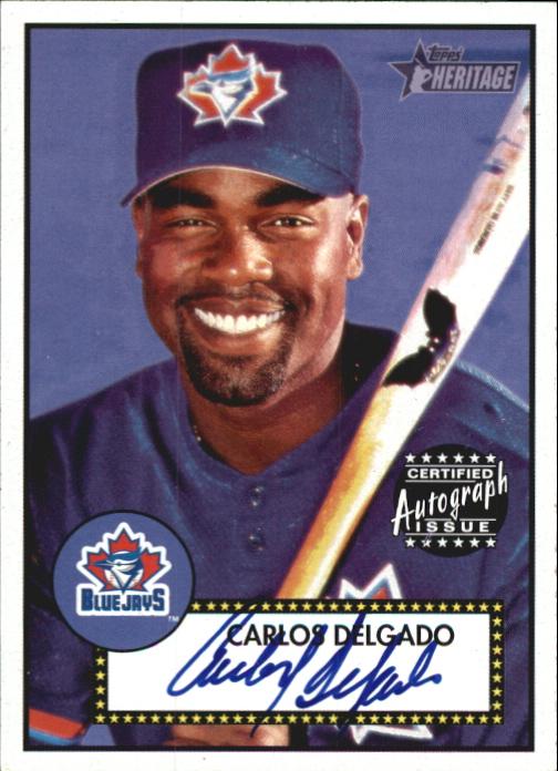 2001 Topps Heritage Autographs #THACD Carlos Delgado