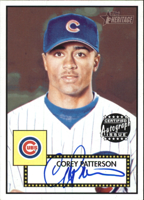 2001 Topps Heritage Autographs #THACP Corey Patterson