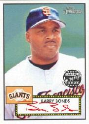 2001 Topps Heritage Autographs Red Ink #THABB Barry Bonds