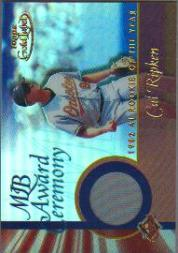 2001 Topps Gold Label MLB Award Ceremony Relics #CR1 Cal Ripken  ROY Jsy