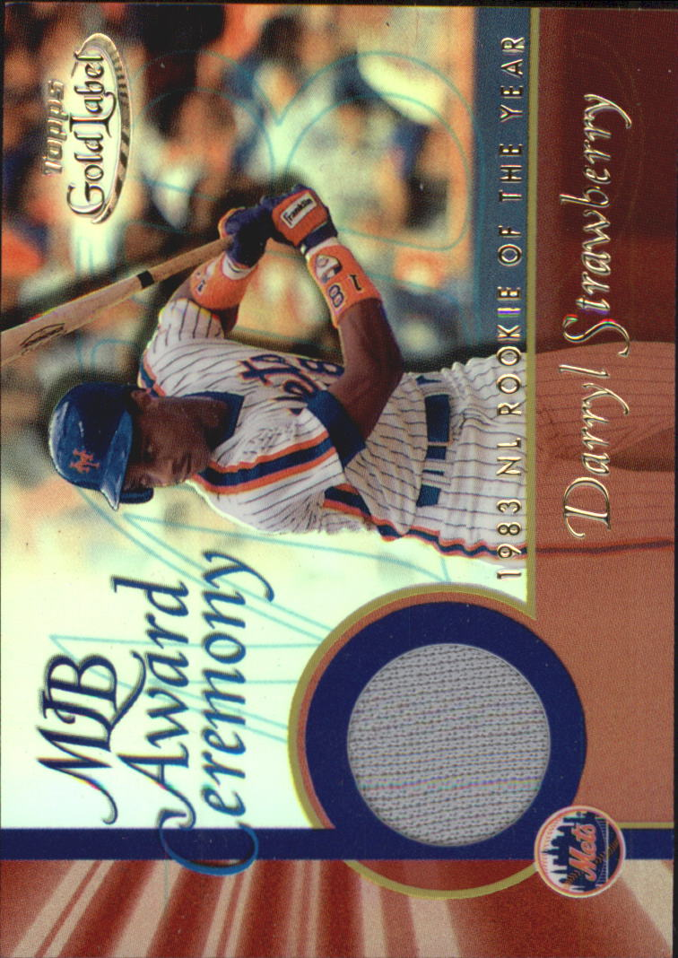 2001 Topps Gold Label MLB Award Ceremony Relics #DS2 Darryl Strawberry ROY Jsy