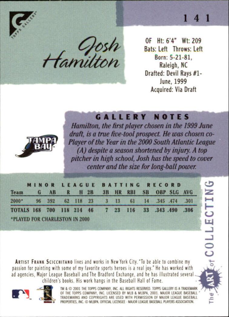 2001 Topps Gallery #141 Josh Hamilton back image
