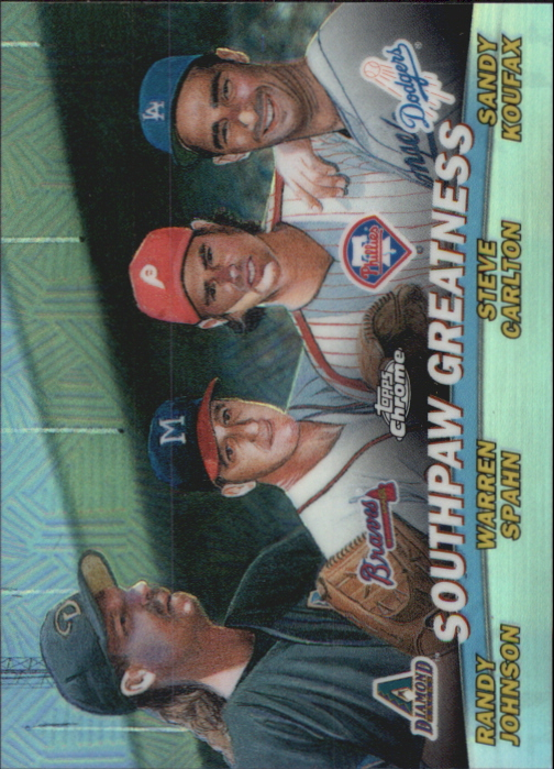 2001 Topps Chrome Combos Refractors #TC17 Southpaw Greatness