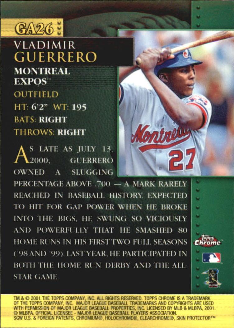 2001 Topps Chrome Golden Anniversary #GA26 Vladimir Guerrero back image