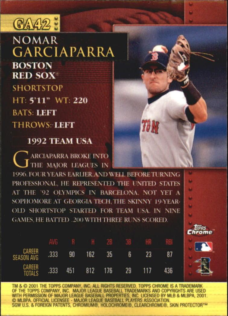 2001 Topps Chrome Golden Anniversary #GA42 Nomar Garciaparra back image