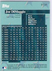 2001 Topps Before There Was Topps #BT10 Joe DiMaggio back image