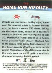 2001 Topps Combos #TC9 Home Run Royalty back image