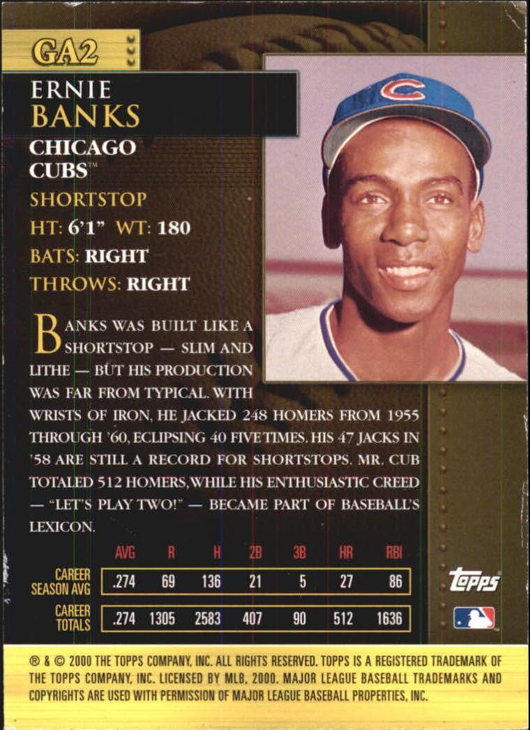 2001 Topps Golden Anniversary #GA2 Ernie Banks back image