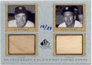 2001 SP Legendary Cuts Game Bat Combo #JDMM Joe DiMaggio/Mickey Mantle