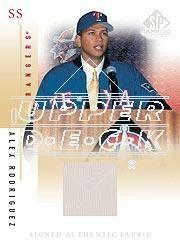 2001 SP Game Used Edition Authentic Fabric Autographs #SAR Alex Rodriguez
