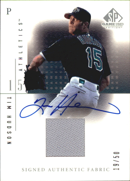 2001 SP Game Used Edition Authentic Fabric Autographs #STH Tim Hudson