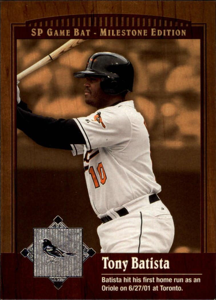 2001 SP Game Bat Milestone #20 Tony Batista