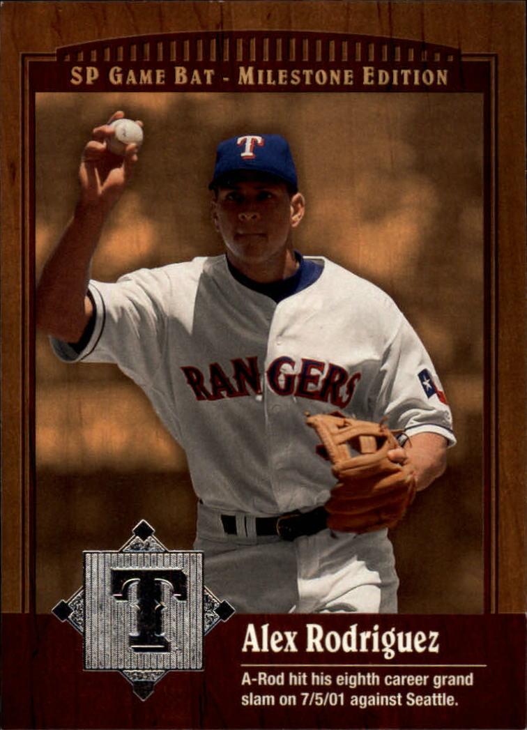 2001 SP Game Bat Milestone #21 Alex Rodriguez
