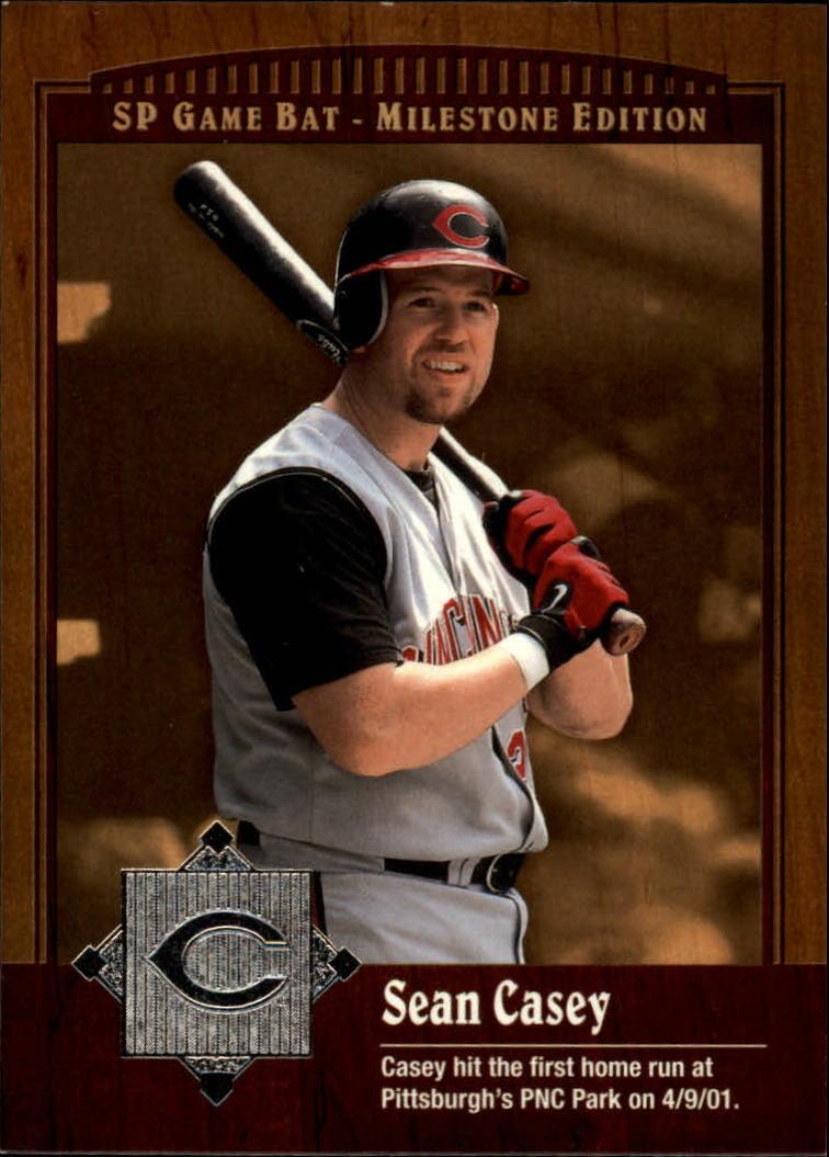 2001 SP Game Bat Milestone #85 Sean Casey