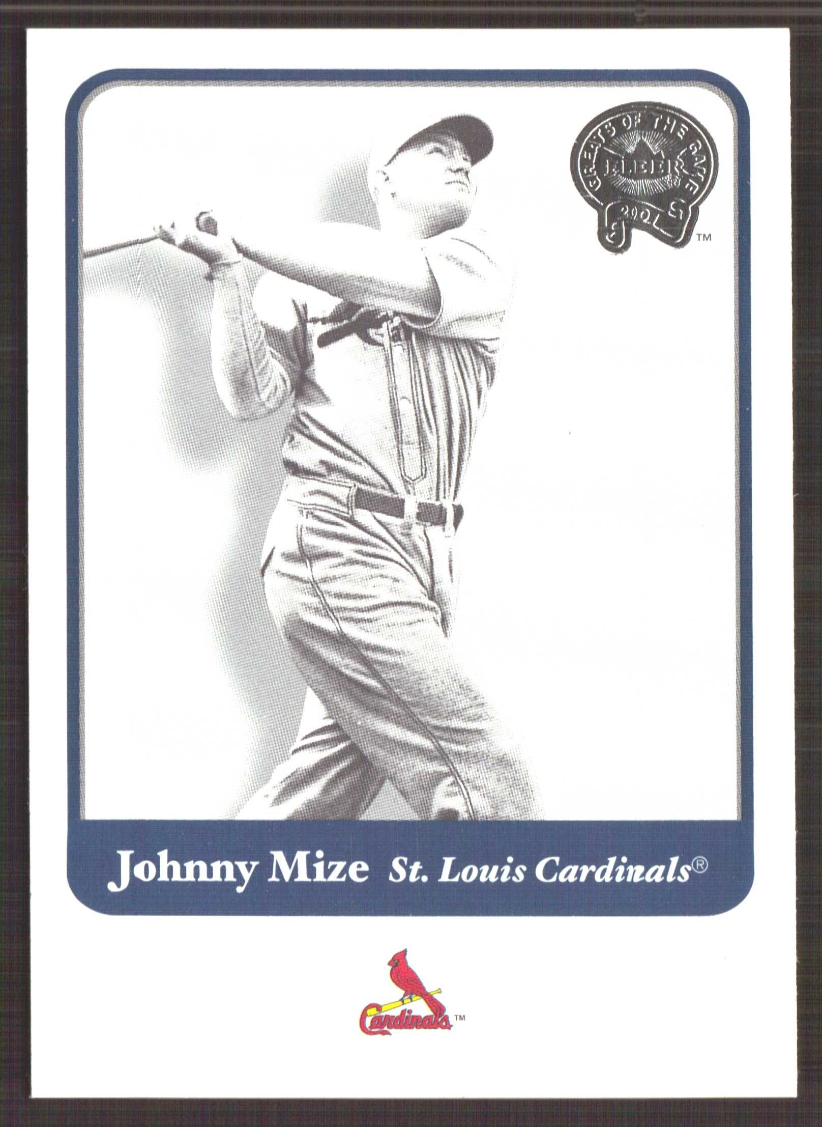 2001 Greats of the Game #14 Johnny Mize