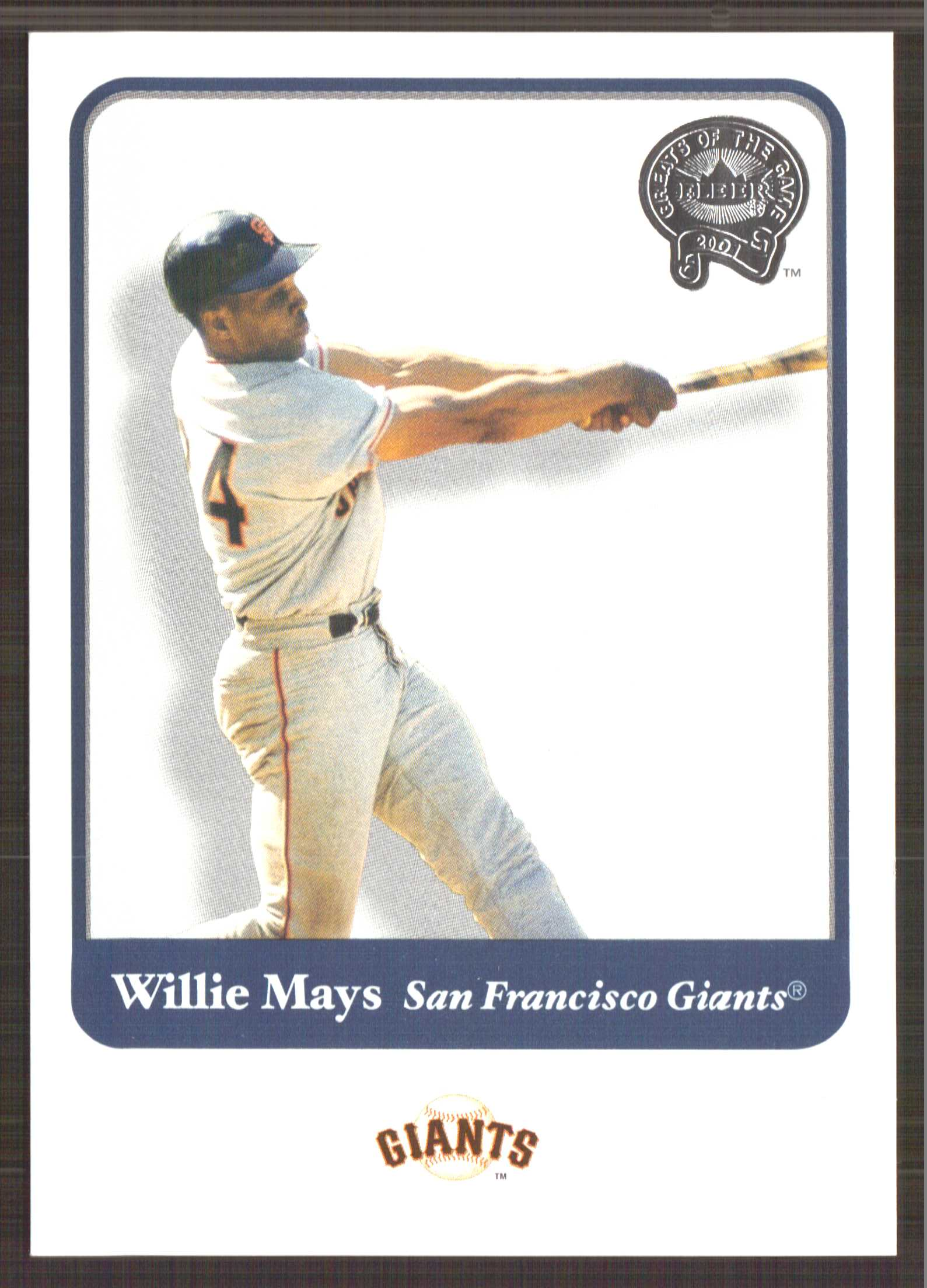 2001 Greats of the Game #115 Willie Mays