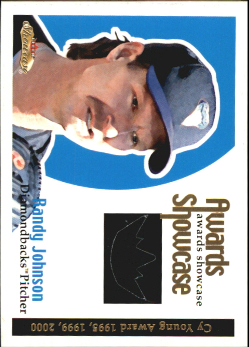 2001 Fleer Showcase Awards Showcase Memorabilia #20 Randy Johnson Jsy