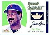 2001 Fleer Showcase Awards Showcase Memorabilia Autographs #24 Jim Rice Bat