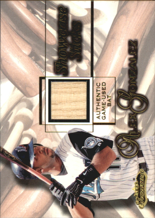 2001 Fleer Showcase Sticks #13 Alex Gonzalez