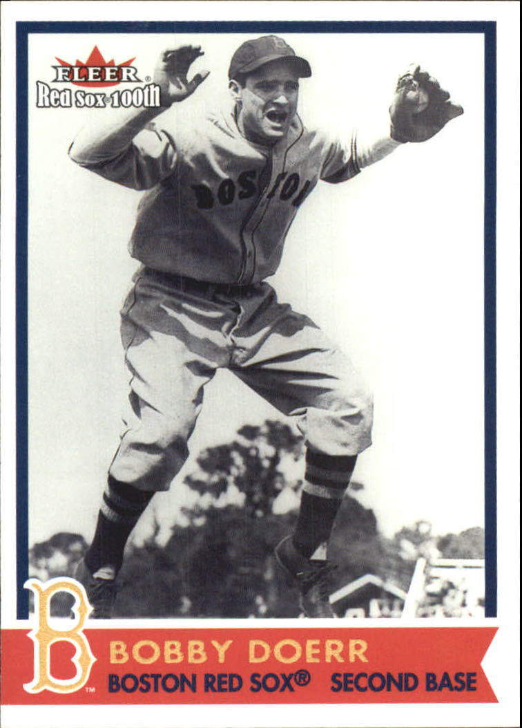 2001 Fleer Red Sox 100th #43 Bobby Doerr