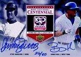 2001 Upper Deck Minors Centennial Combo Signatures #CSSH Ryne Sandberg/Bobby Hill