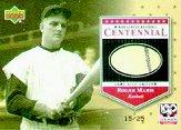 2001 Upper Deck Minors Centennial Game Jersey Gold #JRM Roger Maris