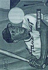 2001 Bowman Rookie Reprints Relic Bat Autographs #1 Willie Mays