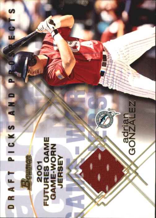 2001 Bowman Draft Futures Game Relics #FGRAG Adrian Gonzalez